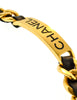 Chanel Vintage Gold Chain & Black Leather ID Tag Nameplate Choker Necklace - Amarcord Vintage Fashion  - 8
