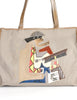 Carlos Falchi Vintage Musician Patchwork Leather Canvas Tote Bag - Amarcord Vintage Fashion  - 3