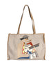 Carlos Falchi Vintage Musician Patchwork Leather Canvas Tote Bag - Amarcord Vintage Fashion  - 1