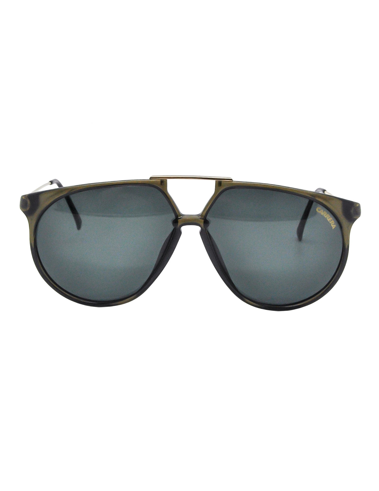 Carrera Vintage Smoke Grey Aviator Sunglasses 5415 - Amarcord Vintage Fashion  - 1