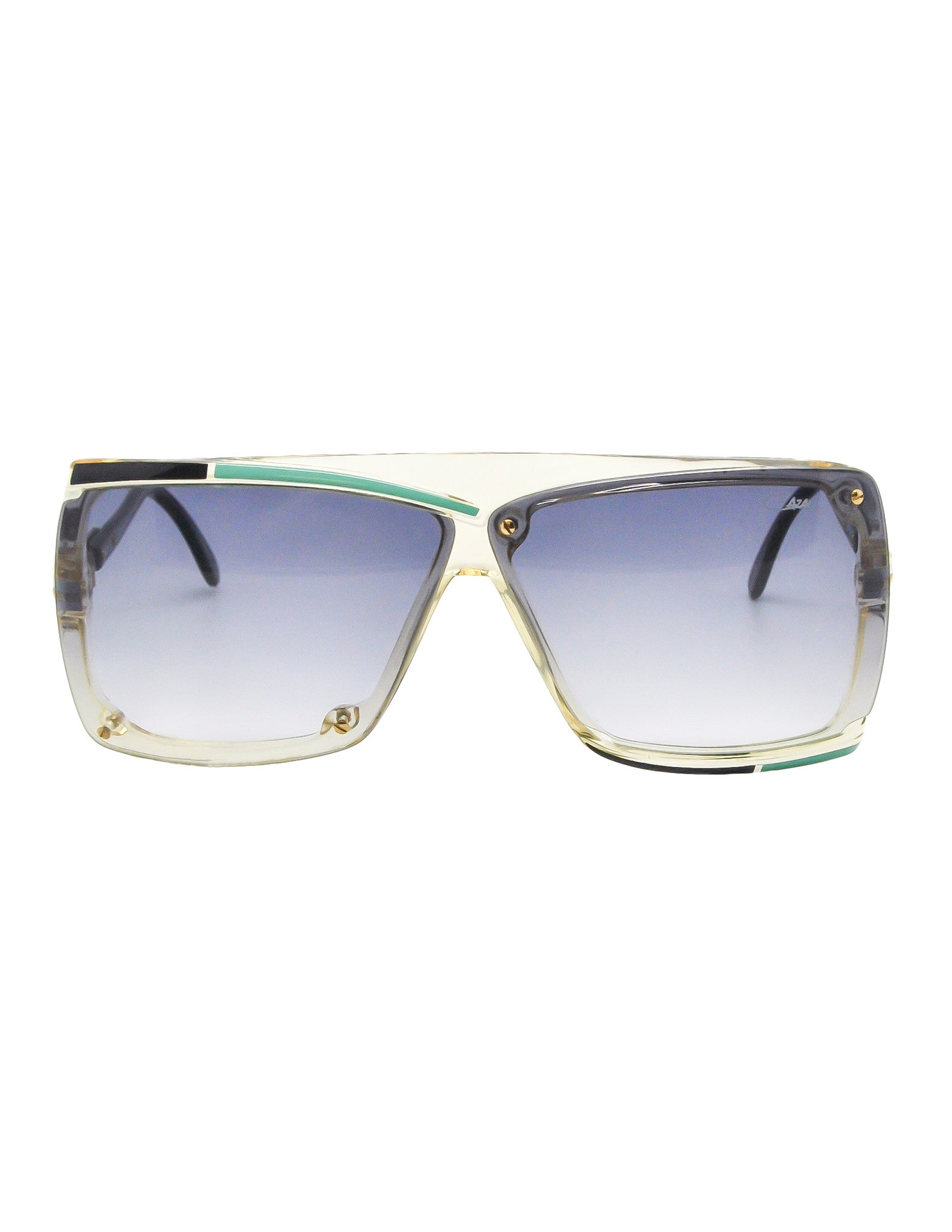Cazal Vintage Navy Blue and Seafoam Sunglasses 859 277 - Amarcord Vintage Fashion  - 1