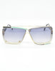 Cazal Vintage Navy Blue and Seafoam Sunglasses 859 277 - Amarcord Vintage Fashion  - 2