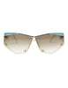 Cazal Vintage Navy Blue and Seafoam Sunglasses 861 283 - Amarcord Vintage Fashion  - 1