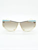 Cazal Vintage Navy Blue and Seafoam Sunglasses 861 283 - Amarcord Vintage Fashion  - 3