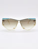 Cazal Vintage Navy Blue and Seafoam Sunglasses 861 283 - Amarcord Vintage Fashion  - 2