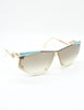 Cazal Vintage Navy Blue and Seafoam Sunglasses 861 283 - Amarcord Vintage Fashion  - 5