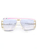 Cazal Vintage Asymmetrical Purple and Pink Sunglasses 867 125 - Amarcord Vintage Fashion  - 3