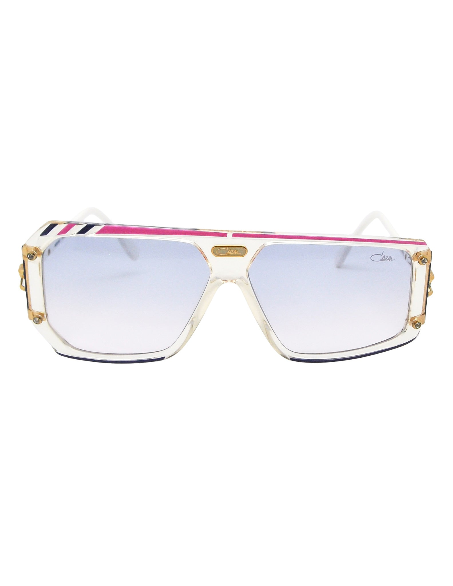 Cazal Vintage Asymmetrical Purple and Pink Sunglasses 867 125 - Amarcord Vintage Fashion  - 1