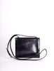 Celine Vintage Gold Circle Black Leather Structured Shoulder Bag - Amarcord Vintage Fashion  - 5