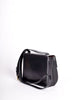 Celine Vintage Gold Circle Black Leather Structured Shoulder Bag - Amarcord Vintage Fashion  - 6