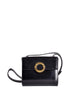 Celine Vintage Gold Circle Black Leather Structured Shoulder Bag - Amarcord Vintage Fashion  - 1