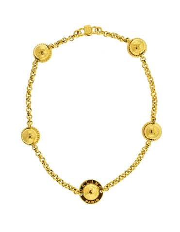Celine Vintage Gold Star Globe Choker Necklace