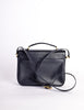 Celine Vintage Navy Blue Leather Messenger Bag - Amarcord Vintage Fashion  - 5