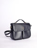 Celine Vintage Navy Blue Leather Messenger Bag - Amarcord Vintage Fashion  - 3