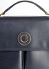 Celine Vintage Navy Blue Leather Messenger Bag - Amarcord Vintage Fashion  - 4