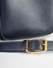 Celine Vintage Navy Blue Leather Messenger Bag - Amarcord Vintage Fashion  - 7