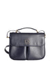 Celine Vintage Navy Blue Leather Messenger Bag - Amarcord Vintage Fashion  - 1