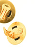 Celine Vintage Gold Star Globe Earrings - Amarcord Vintage Fashion  - 6