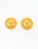 Celine Vintage Gold Star Globe Earrings - Amarcord Vintage Fashion  - 4