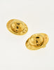 Celine Vintage Gold Star Globe Earrings - Amarcord Vintage Fashion  - 5