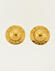 Celine Vintage Gold Star Globe Earrings - Amarcord Vintage Fashion  - 2