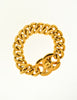 Chanel Vintage Gold CC Logo Turnlock Chain Bracelet