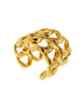 Chanel Vintage Iconic Gold Double Row Chain Cuff Bracelet