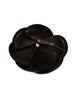 Chanel Vintage Shiny Black Patent Camellia Brooch Pin