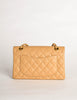 Chanel Vintage Beige Caviar Quilted 2.55 Small Classic Double Flap Bag