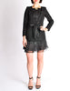 Chanel Black Pique & Chiffon Two-Piece Jacket & Shorts Suit - Amarcord Vintage Fashion  - 3