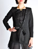 Chanel Black Pique & Chiffon Two-Piece Jacket & Shorts Suit - Amarcord Vintage Fashion  - 4