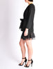 Chanel Black Pique & Chiffon Two-Piece Jacket & Shorts Suit - Amarcord Vintage Fashion  - 5