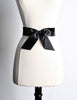 Chanel Vintage Black Satin Bow Belt - Amarcord Vintage Fashion  - 4