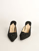 Chanel Vintage Black Pointed Toe Bow Mules - Amarcord Vintage Fashion  - 5