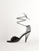 Chanel Vintage Black Satin Strappy Cage Heels - Amarcord Vintage Fashion  - 2