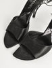 Chanel Vintage Black Satin Strappy Cage Heels - Amarcord Vintage Fashion  - 4