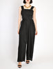 Chanel Vintage Black Silk Chiffon Tie Top & Palazzo Pant Ensemble - Amarcord Vintage Fashion  - 3