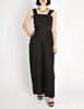 Chanel Vintage Black Silk Chiffon Tie Top & Palazzo Pant Ensemble - Amarcord Vintage Fashion  - 2