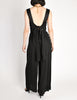Chanel Vintage Black Silk Chiffon Tie Top & Palazzo Pant Ensemble - Amarcord Vintage Fashion  - 8