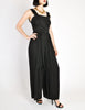 Chanel Vintage Black Silk Chiffon Tie Top & Palazzo Pant Ensemble - Amarcord Vintage Fashion  - 5