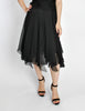 Chanel Vintage Black Silk Chiffon Layered Skirt - Amarcord Vintage Fashion  - 2