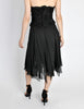 Chanel Vintage Black Silk Chiffon Layered Skirt - Amarcord Vintage Fashion  - 9