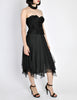 Chanel Vintage Black Silk Chiffon Layered Skirt - Amarcord Vintage Fashion  - 6