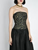 Chanel Vintage Black & Gold Silk & Tulle Evening Gown - Amarcord Vintage Fashion  - 7