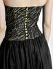 Chanel Vintage Black & Gold Silk & Tulle Evening Gown - Amarcord Vintage Fashion  - 10