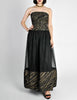 Chanel Vintage Black & Gold Silk & Tulle Evening Gown - Amarcord Vintage Fashion  - 4