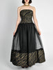 Chanel Vintage Black & Gold Silk & Tulle Evening Gown - Amarcord Vintage Fashion  - 6