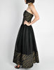 Chanel Vintage Black & Gold Silk & Tulle Evening Gown - Amarcord Vintage Fashion  - 8