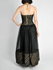 Chanel Vintage Black & Gold Silk & Tulle Evening Gown - Amarcord Vintage Fashion  - 11
