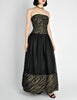 Chanel Vintage Black & Gold Silk & Tulle Evening Gown - Amarcord Vintage Fashion  - 5
